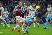 West Ham United midfielder Michail Antonio (30) during the Premier League match between Burnley and West Ham United at Turf Moor, Burnley, England on 30 December 2018.