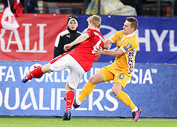 24.03.2017, Ernst Happel Stadion, Wien, AUT, FIFA WM 2018 Qualifikation, Oesterreich vs Moldawien, Gruppe D, im Bild Martin Hinteregger (AUT), Alexandru Dedov (MDA) // during the FIFA World Cup 2018, group D qualifying match between Austria and Moldova at the Ernst Happel Stadion in Wien, Austria on 2017/03/24. EXPA Pictures © 2017, PhotoCredit: EXPA/ Alexander Forst