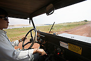 Several vintage U.S. Army Willys Universal Jeep CJ-3Bs left from Vietnam war can be hired by tourists.
