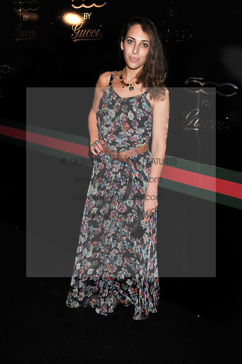 SERENA MATTAR at a party to launch the Gucci designed Fiat 500 customized by Gucci Creative Director Frida Giannini in collaboration with FIAT's Centro Stile, held at Fiat, 105 Wigmore Street, London on 27th June 2011.