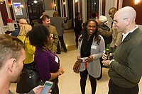 The Hyde Park Chamber of Commerce held its monthly Chamber Check In meeting this past Thursday at 5540 S. Hyde Park Blvd. The Chamber Check In, formerly known as the First Thursday allows business owners in the neighborhood to network and socialize. Meetings are held at various locations on the first Thursday of each month.<br /> <br /> Please 'Like' &quot;Spencer Bibbs Photography&quot; on Facebook.<br /> <br /> All rights to this photo are owned by Spencer Bibbs of Spencer Bibbs Photography and may only be used in any way shape or form, whole or in part with written permission by the owner of the photo, Spencer Bibbs.<br /> <br /> For all of your photography needs, please contact Spencer Bibbs at 773-895-4744. I can also be reached in the following ways:<br /> <br /> Website &ndash; www.spbdigitalconcepts.photoshelter.com<br /> <br /> Text - Text &ldquo;Spencer Bibbs&rdquo; to 72727<br /> <br /> Email &ndash; spencerbibbsphotography@yahoo.com