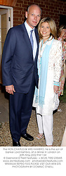 The HON.CHARLES & MRS HAMBRO, he is the son of banker Lord Hambro, at a dinner in London on 20th May 2002.	PAF 134