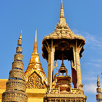 Octagonal Throne at Grand Palace in Bangkok, Thailand<br />