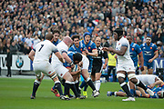 Sebastien Vahaamahina (FRA), Dan Cole (ENG), Chris Robshaw (ENG), Maxime Machenaud (FRA), Wenceslas Lauret (FRA), Paul Gabrillagues (FRA) during the NatWest 6 Nations 2018 rugby union match between France and England on March 10, 2018 at Stade de France in Saint-Denis, France - Photo Stephane Allaman / ProSportsImages / DPPI