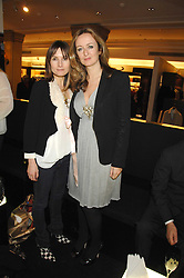 Left to right,  DAISY BATES and LUCY YEOMANS at a party to celebrate the 5th anniversary of Grand Classics held at the Dom Perignon OEnotheque Bar at Harrods, Knightsbridge, London on 14th February 2008.<br />