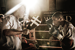 NOVEMBER 16TH 2009, Andre Ward & Mikkel Kesslerr host an open media workout in Oakland, CA at Kings Boxing Gym. The two will meet Saturday, November 21st at the Oracle Arena.