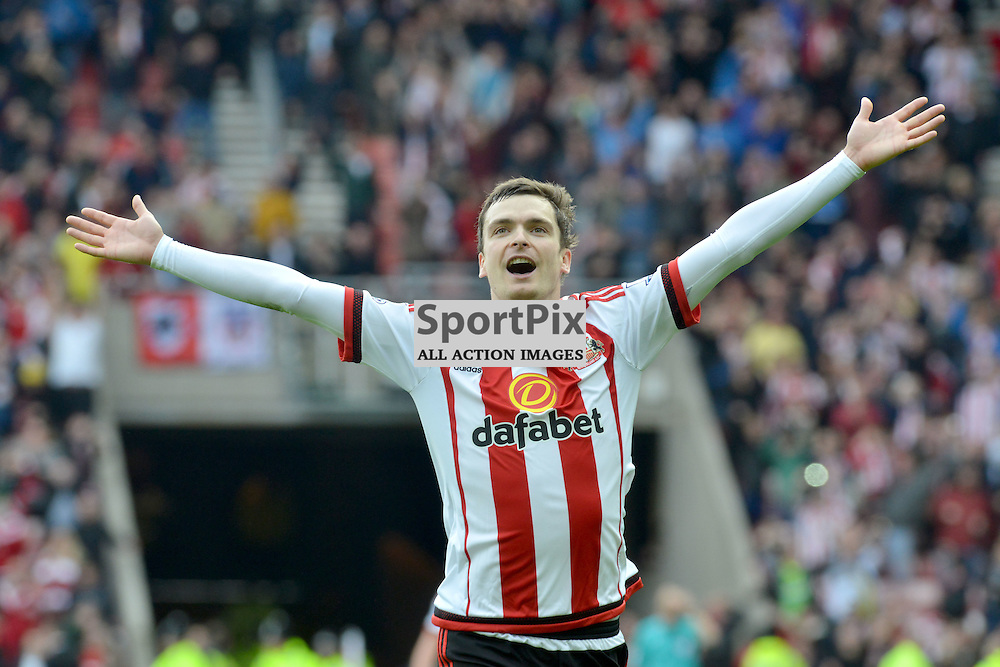 Sunderland's Adam Johnson celebrates his penalty that puts his team 1-0 up against Newcastle....(c) BILLY WHITE | SportPix.org.uk