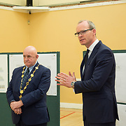 24.04.2017.       <br /> Minister for Housing Simon Coveney visiting the Moyross Community Centre, Limerick announcing funding of &euro;3 million for a refurbishment of the centre​. <br /> <br /> Pictured at the event was Minister for Housing Simon Coveney and Cllr. Kieran O'Hanlon, Mayor Limerick City and County. Picture: Alan Place.