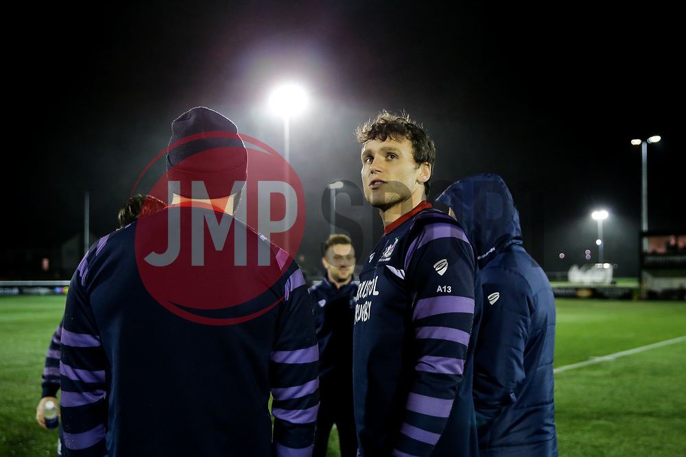 Sam Jeffries of Bristol Rugby looks on - Rogan/JMP - 10/02/2018 - RUGBY UNION - Trailfinders Sports Ground - Ealing Trailfinders v Bristol Rugby - Greene King IPA Championship.