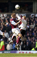 Copyright Sportsbeat. 0208 3926656<br />Picture: Henry Browne<br />Date: 15/03/2003<br />Aston Villa v Manchester United FA Barclaycard Premiership<br />Paul Scholes of Man Utd and Thomas Hitzlsperger of Villa compete for the ball