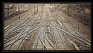 View of the tracks, Gara de Nord, Bucharest<br />