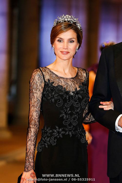 NLD/Amsterdam/20130429- Afscheidsdiner Konining Beatrix Rijksmuseum, Princess Letizia of Spain