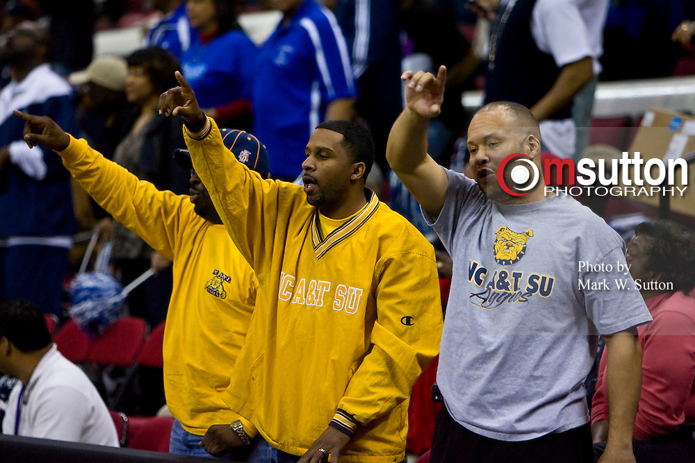 during the 2008 MEAC Basketball Tournament at the RBC Center in Raleigh, North Carolina.  March 14, 2008  (Photo by Mark W. Sutton)
