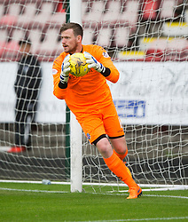 Cowdenbeath's keeper Michael Andrews. <br /> Dunfermline 5 v 1 Cowdenbeath, Scottish League Cup game played today at East End Park.