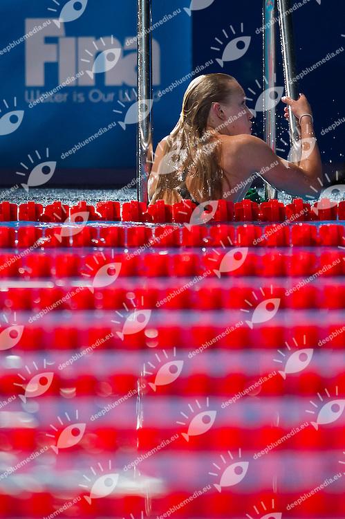 Ruta Meilutyte LTU new world record<br /> Women's 50m breaststroke semifinal<br /> 15th FINA World Aquatics Championships<br /> Palau Sant Jordi, Barcelona (Spain) 03/08/2013 <br /> &copy; Giorgio Perottino / Deepbluemedia.eu / Insidefoto