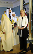 12.APRIL.2012. WASHINGTON D.C<br /> <br /> U.S. SECRETARY OF STATE HILLARY RODHAM CLINTON POSES WITH SAUDI ARABIAN DEFENSE MINISTER PRINCE SALMAN BIN ABDUL-AZIZ AL SAUD AT THE DEPARTMENT OF STATE IN WASHINGTON, D.C. ON APRIL 12, 2012.  <br /> <br /> BYLINE: EDBIMAGEARCHIVE.COM<br /> <br /> *THIS IMAGE IS STRICTLY FOR UK NEWSPAPERS AND MAGAZINES ONLY*<br /> *FOR WORLD WIDE SALES AND WEB USE PLEASE CONTACT EDBIMAGEARCHIVE - 0208 954 5968*