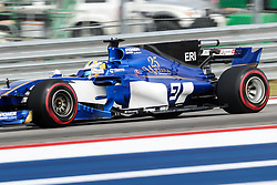 October 20, 2017 - Austin, Texas, U.S - Jean-Eric Vergne (25) of France in action before the Formula 1 United States Grand Prix race at the Circuit of the Americas race track in Austin,Texas. (Credit Image: © Dan Wozniak via ZUMA Wire)