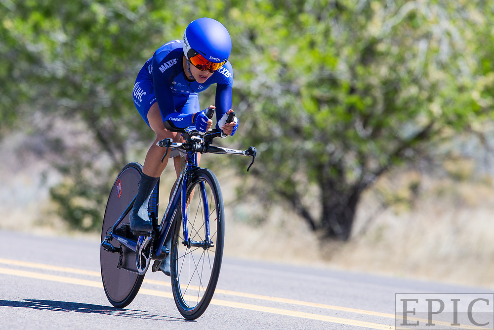 SILVERY CITY, NM - APRIL 20: Diana Carolina Peuela Martinez (UnitedHealthcare Pro Cycling Team) during stage 3 of the Tour of The Gila on April 20, 2018 in Silver City, New Mexico. (Photo by Jonathan Devich/Epicimages.us)