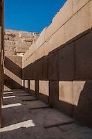 Part of reconstruction of the Sphinx temple a Giza, Egypt.