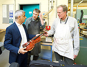 Sadiq Khan, the Mayor of London, officially launches Skills for Londoners &ndash; a new initiative that aims to ensure that all Londoners have the opportunity to train in the skills that the capital&rsquo;s economy needs.<br /> <br /> At South Thames College (Merton Campus) London Rd, Morden, Great Britain on 27th April 2017.<br /> <br /> The Mayor joins students at South Thames College (Merton Campus) who are learning how to repair motorcycles before seeking employment or setting up their own business.<br /> <br /> <br /> <br /> visiting the violin workshop and talks to Richard Elliston  <br /> <br /> <br /> Photograph by Elliott Franks <br /> Image licensed to Elliott Franks Photography Services