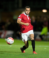 Jerome Wright of FC United of Manchester during the FA Cup match at Broadhurst Park, Moston<br /> Picture by Russell Hart/Focus Images Ltd 07791 688 420<br /> 09/11/2015