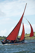 18/08/2013  Galway Hooker during  the annual Crinniu na mBad (The Gathering of the boats) Festival in the picturesque village of Kinvara Co. Galway. Picture:Andrew Downes