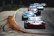 August 5 2018: IMSA Weathertech Continental Tire Road Race Showcase. 58 Wright Motorsports, Porsche 911 GT3 R, Patrick Long, Christina Nielsen