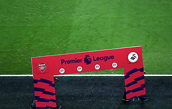 A general view of signage prior to the match