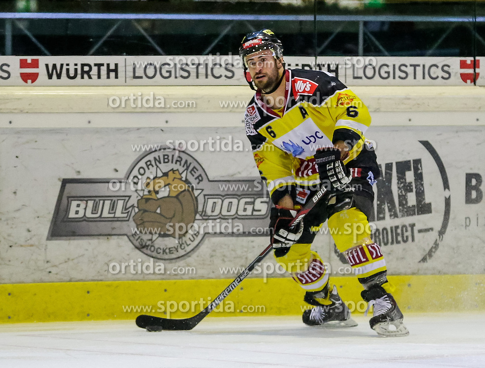 05.12.2015, Messestadion, Dornbirn, AUT, EBEL, Dornbirner Eishockey Club vs UPC Vienna Capitals, 27. Runde, im Bild Rafael Rotter, (UPC Vienna Capitals #06)// during the Erste Bank Icehockey League 27th round match between Dornbirner Eishockey Club and UPC Vienna Capitals at the Messestadion in Dornbirn, Austria on 2015/12/05, EXPA Pictures © 2015, PhotoCredit: EXPA/ Peter Rinderer