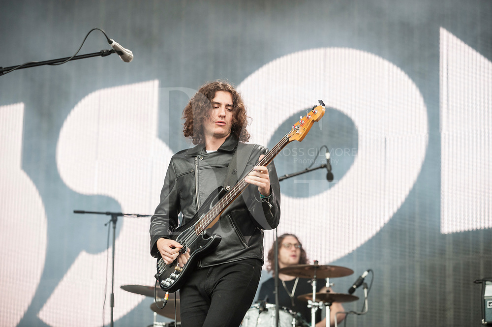 The Blossoms performs on Day 3 of the T in the Park festival at Strathallan Castle on July10, 2016 in Perth, Scotland. (Photo by Ross gilmore)