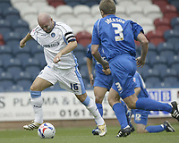Photo: Aidan Ellis.<br /> Rochdale v Wycombe Wanderers. Coca Cola League 2. 16/09/2006.<br /> Wycombe's Tommy Mooney scores the first goal