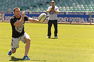 SYDNEY, AUSTRALIA, FEBRUARY 24, 2011: UFC fighter Kyle Noke is picutred on the pitch during a media event at Sydney Football Stadium in Sydney, Australia on February 24, 2011