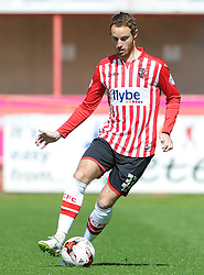 Exeter City's Ryan Harley- Photo mandatory by-line: Harry Trump/JMP - Mobile: 07966 386802 - 18/04/15 - SPORT - FOOTBALL - Sky Bet League Two - Exeter City v Southend United - St James Park, Exeter, England.