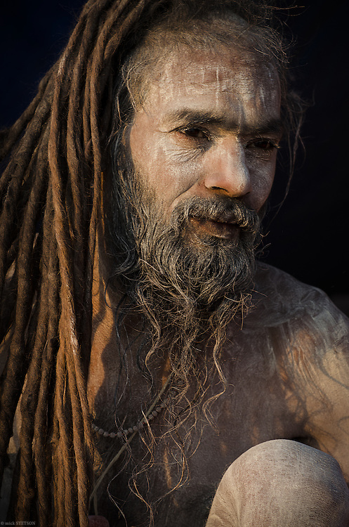— Pradib Tuwari is one of many naga (naked) sadhus who attended the month-long Kumbha Mela in Allahabad, India, 2013. Sadhus are respected for their holiness and revered by Hindus as representatives of the gods.
