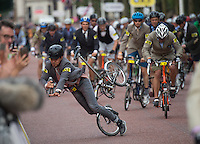 LONDON UK 30TH JULY 2016:  Brompton Cyclist The Mall. The Brompton World Championship. Prudential RideLondon in London 30th July 2016<br /> <br /> Photo: Jon Buckle/Silverhub for Prudential RideLondon<br /> <br /> Prudential RideLondon is the world's greatest festival of cycling, involving 95,000+ cyclists – from Olympic champions to a free family fun ride - riding in events over closed roads in London and Surrey over the weekend of 29th to 31st July 2016. <br /> <br /> See www.PrudentialRideLondon.co.uk for more.<br /> <br /> For further information: media@londonmarathonevents.co.uk