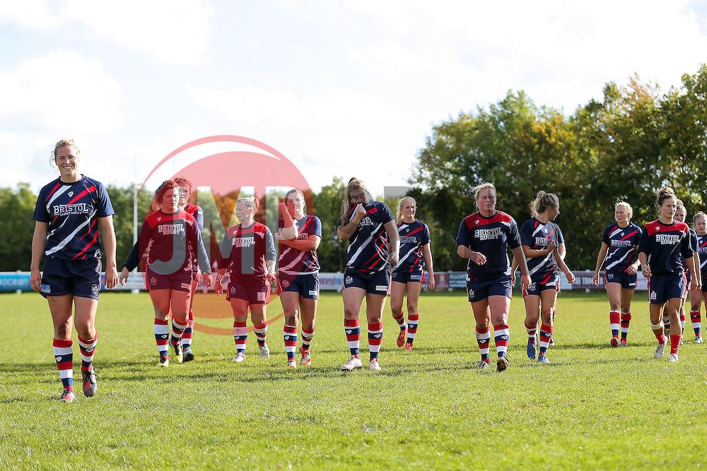 Bristol Ladies warm  up - Rogan Thomson/JMP - 16/10/2016 - RUGBY UNION - Cleve RFC - Bristol, England - Bristol Ladies Rugby v Lichfield Ladies - RFU Women's Premiership.
