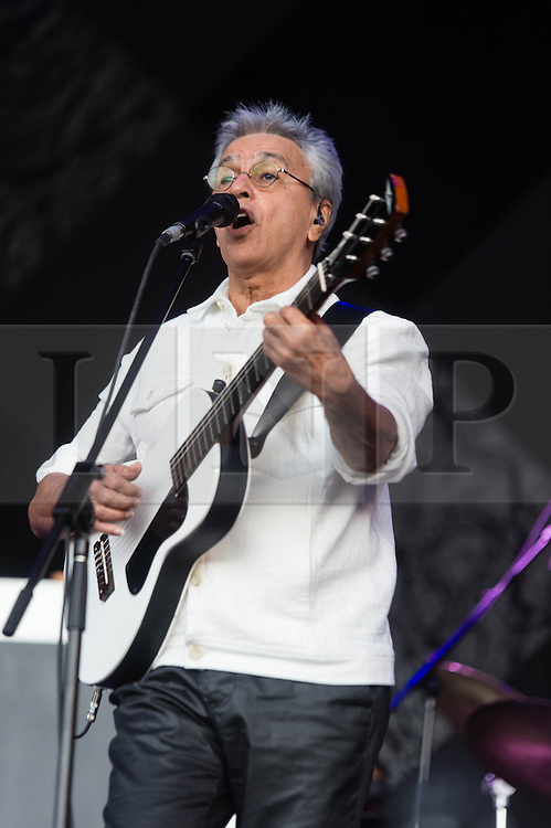© Licensed to London News Pictures. 31/05/2014. Barcelona, Spain.   Caetano Veloso performing live at Primavera Sound festival Day 4.   Caetano Veloso is a Brazilian composer, singer, guitarist, writer, and political activist. Veloso has won nine Latin Grammy Awards and two Grammy Awards. On November 14, 2012, Veloso was honored as the Latin Recording Academy Person of the Year.  Primavera Sound, or simply Primavera, is an annual music festival that takes place in Barcelona, Spain in late May/June within the Parc del Fòrum leisure site. Photo credit : Richard Isaac/LNP