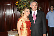 Benjamin (Bibi) Netanyahu and wife Sara. October 2007 Ex prime minister and current leader of the opposition political party Likud