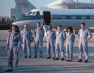 Space Shuttle Challenger showing Christa McAuliffe; Ellison Onizkua; Francis Scobee; Gregory Jarvis; Judith Resnik; Michael J.Smith; Personal; Ronald McNair;  astronauts; disasters