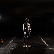 CrossFit athlete Samuel Paljk prepares himself for competition.
