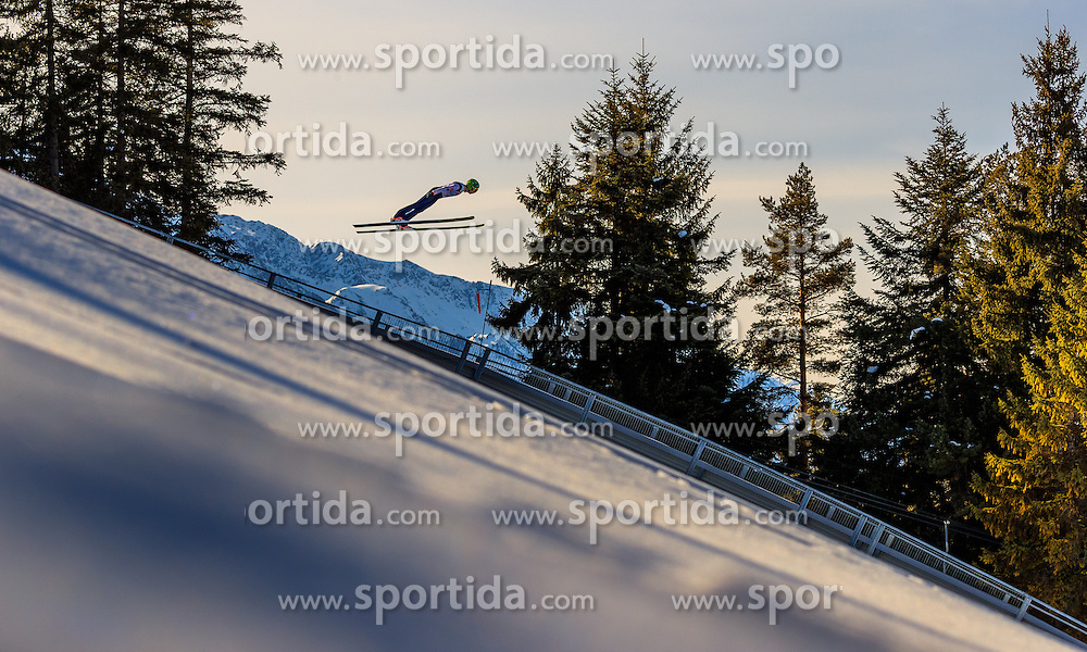 28.01.2017, Casino Arena, Seefeld, AUT, FIS Weltcup Nordische Kombination, Seefeld Triple, Skisprung, im Bild Ilkka Herola (FIN) // Ilkka Herola of Finland in action during his Trail Jump of Skijumping of the FIS Nordic Combined World Cup Seefeld Triple at the Casino Arena in Seefeld, Austria on 2017/01/28. EXPA Pictures © 2017, PhotoCredit: EXPA/ JFK