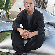 "Venice Lido, Italy, August 28, 2014. Venice Film Festival. The South Korean director Kim Ki-Duk, winner of the Golden Lion at the 69th edition of the Venice Film Festival with his film ""Pieta""."
