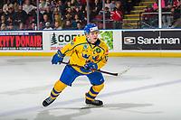KELOWNA, BC - DECEMBER 18:  Erik Brännström #12 of Team Sweden skates against Team Russia at Prospera Place on December 18, 2018 in Kelowna, Canada. (Photo by Marissa Baecker/Getty Images)***Local Caption***