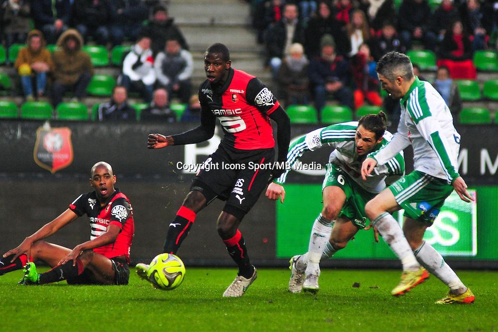 Abdoulaye Doucoure  - 18.01.2015 - Rennes / Saint Etienne - 21eme journee de Ligue 1 - <br /> Photo : Philippe Le Brech / Icon Sport