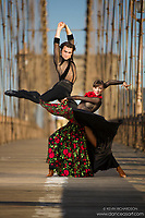 Dance As Art The New York Photography Project Brooklyn Bridge series with DNA: Denys Drozdyuk and Antonina Skobina- U.S. National Ballroom Dance Champions. Costumes by Nika Couture
