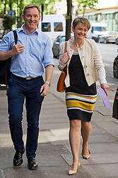 © Licensed to London News Pictures. 06/06/2015. London, UK.  CHRIS BRYANT MP and YVETTE COPPER  arriving at the venue. Current Labour Leadership candidates attend a debate at the Fabien Society Conference, held at the institute of Education in London. Photo credit: Ben Cawthra/LNP