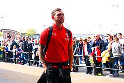 Jon Taylor of Rotherham United arrives at the Pride Park Stadium, home to Derby County - Mandatory by-line: Ryan Crockett/JMP - 30/03/2019 - FOOTBALL - Pride Park Stadium - Derby, England - Derby County v Rotherham United - Sky Bet Championship