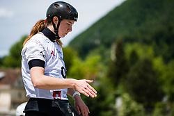 Helena Domajnko during the Kayak Single (K1) Women race of Tacen Cup 2020 on May 24, 2020 in Tacen, Ljubljana, Slovenia. Photo By Grega Valancic / Sportida