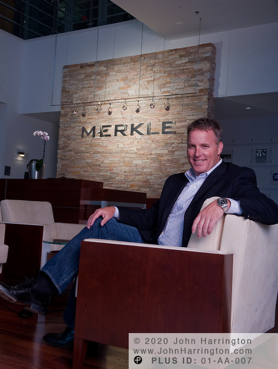 Merlke CEO David Williams, photographed at Merkle Headquarters in Columbia, MD August 28, 2009.