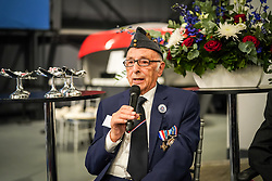 RAF Veteran Ralph Levy speaking at Hidden Heroes, an event celebrating the part played by Jewish volunteers in the Royal Air Force during World War Two, at the RAF Museum in London. The event is part of celebrations to mark the centenary of the RAF. Photo date: Thursday, November 15, 2018. Photo credit should read: Richard Gray/EMPICS